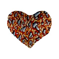 Pebble Painting Standard 16  Premium Flano Heart Shape Cushions by Simbadda