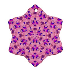 Mandala Tiling Snowflake Ornament (two Sides) by Simbadda
