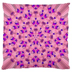 Mandala Tiling Large Flano Cushion Case (two Sides) by Simbadda