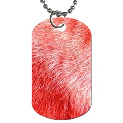 Pink Fur Background Dog Tag (One Side)