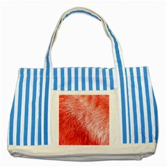 Pink Fur Background Striped Blue Tote Bag by Simbadda