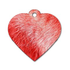 Pink Fur Background Dog Tag Heart (one Side) by Simbadda