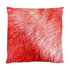 Pink Fur Background Standard Cushion Case (one Side) by Simbadda