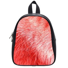 Pink Fur Background School Bags (small)  by Simbadda