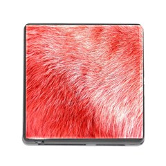 Pink Fur Background Memory Card Reader (square) by Simbadda