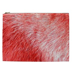 Pink Fur Background Cosmetic Bag (xxl)  by Simbadda