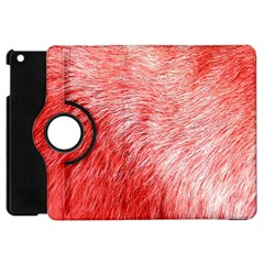 Pink Fur Background Apple Ipad Mini Flip 360 Case by Simbadda