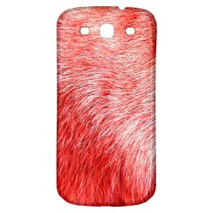 Pink Fur Background Samsung Galaxy S3 S Iii Classic Hardshell Back Case by Simbadda