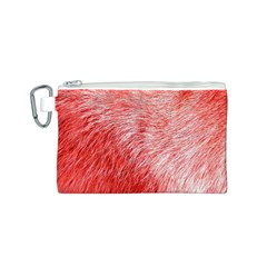Pink Fur Background Canvas Cosmetic Bag (s) by Simbadda
