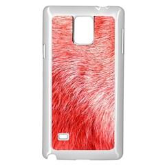 Pink Fur Background Samsung Galaxy Note 4 Case (white) by Simbadda