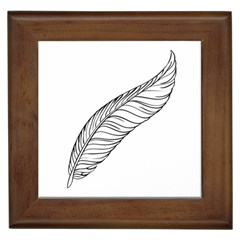 Feather Line Art Framed Tiles by Simbadda