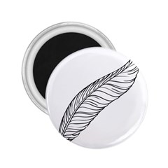 Feather Line Art 2 25  Magnets