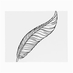 Feather Line Art Small Glasses Cloth by Simbadda