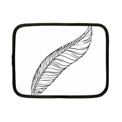 Feather Line Art Netbook Case (small)  by Simbadda