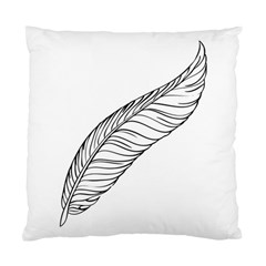 Feather Line Art Standard Cushion Case (two Sides) by Simbadda