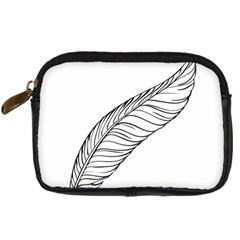 Feather Line Art Digital Camera Cases by Simbadda