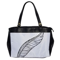 Feather Line Art Office Handbags by Simbadda