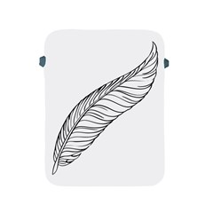 Feather Line Art Apple Ipad 2/3/4 Protective Soft Cases by Simbadda