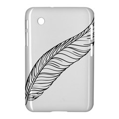 Feather Line Art Samsung Galaxy Tab 2 (7 ) P3100 Hardshell Case  by Simbadda