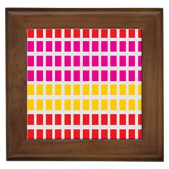 Squares Pattern Background Colorful Squares Wallpaper Framed Tiles by Simbadda