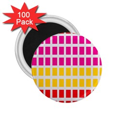 Squares Pattern Background Colorful Squares Wallpaper 2 25  Magnets (100 Pack)  by Simbadda