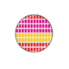 Squares Pattern Background Colorful Squares Wallpaper Hat Clip Ball Marker (4 Pack) by Simbadda
