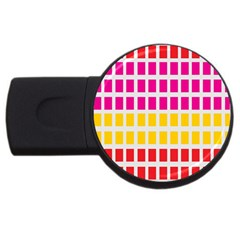 Squares Pattern Background Colorful Squares Wallpaper Usb Flash Drive Round (4 Gb) by Simbadda