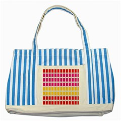 Squares Pattern Background Colorful Squares Wallpaper Striped Blue Tote Bag by Simbadda