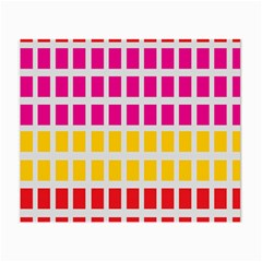 Squares Pattern Background Colorful Squares Wallpaper Small Glasses Cloth (2 Side) by Simbadda