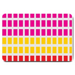 Squares Pattern Background Colorful Squares Wallpaper Large Doormat  by Simbadda