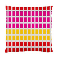 Squares Pattern Background Colorful Squares Wallpaper Standard Cushion Case (two Sides) by Simbadda