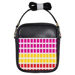 Squares Pattern Background Colorful Squares Wallpaper Girls Sling Bags by Simbadda