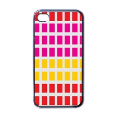 Squares Pattern Background Colorful Squares Wallpaper Apple Iphone 4 Case (black) by Simbadda