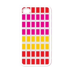 Squares Pattern Background Colorful Squares Wallpaper Apple Iphone 4 Case (white) by Simbadda