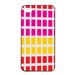 Squares Pattern Background Colorful Squares Wallpaper Apple Iphone 4/4s Seamless Case (black) by Simbadda
