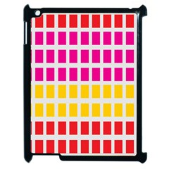 Squares Pattern Background Colorful Squares Wallpaper Apple Ipad 2 Case (black) by Simbadda