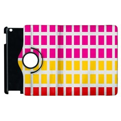 Squares Pattern Background Colorful Squares Wallpaper Apple Ipad 3/4 Flip 360 Case by Simbadda