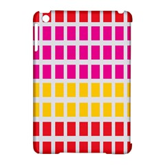 Squares Pattern Background Colorful Squares Wallpaper Apple Ipad Mini Hardshell Case (compatible With Smart Cover) by Simbadda