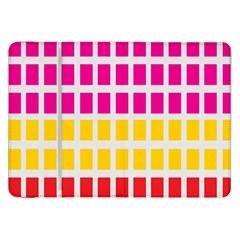 Squares Pattern Background Colorful Squares Wallpaper Samsung Galaxy Tab 8 9  P7300 Flip Case by Simbadda