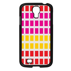 Squares Pattern Background Colorful Squares Wallpaper Samsung Galaxy S4 I9500/ I9505 Case (black) by Simbadda