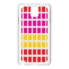 Squares Pattern Background Colorful Squares Wallpaper Samsung Galaxy Note 3 N9005 Case (white) by Simbadda
