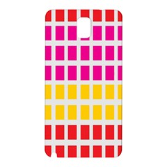 Squares Pattern Background Colorful Squares Wallpaper Samsung Galaxy Note 3 N9005 Hardshell Back Case by Simbadda