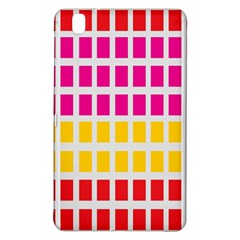 Squares Pattern Background Colorful Squares Wallpaper Samsung Galaxy Tab Pro 8 4 Hardshell Case by Simbadda