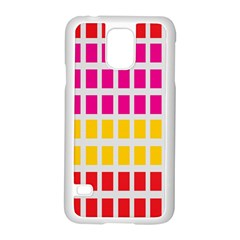 Squares Pattern Background Colorful Squares Wallpaper Samsung Galaxy S5 Case (white) by Simbadda