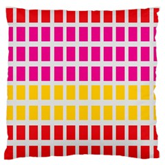 Squares Pattern Background Colorful Squares Wallpaper Large Flano Cushion Case (two Sides) by Simbadda