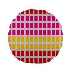 Squares Pattern Background Colorful Squares Wallpaper Standard 15  Premium Flano Round Cushions by Simbadda