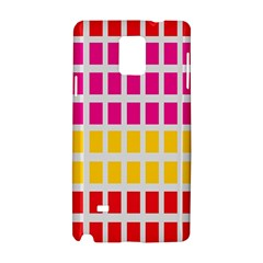 Squares Pattern Background Colorful Squares Wallpaper Samsung Galaxy Note 4 Hardshell Case by Simbadda