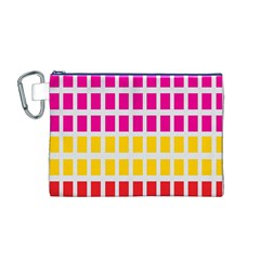 Squares Pattern Background Colorful Squares Wallpaper Canvas Cosmetic Bag (m) by Simbadda