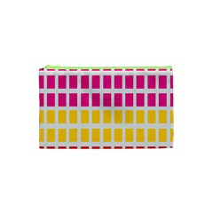 Squares Pattern Background Colorful Squares Wallpaper Cosmetic Bag (xs) by Simbadda