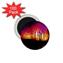 Fall Forest Background 1 75  Magnets (100 Pack)  by Simbadda